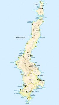 Karpathos térkép